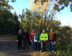 Chapter Volunteers Remove Buckthorn for Service Project