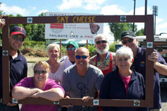 Chapter Members Enjoy Saints Game on Gorgeous Summer Day