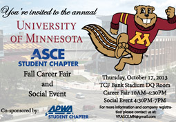 Chapter Members Invited to Sponsor Booth at Civil Engineering Career Fair
